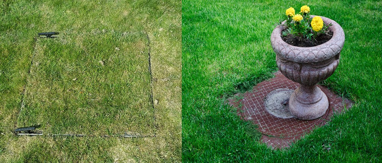 Fitting Grass Top Drain Covers Is Also Very Easy To Do. Tools U0026 Equipment  Needed: